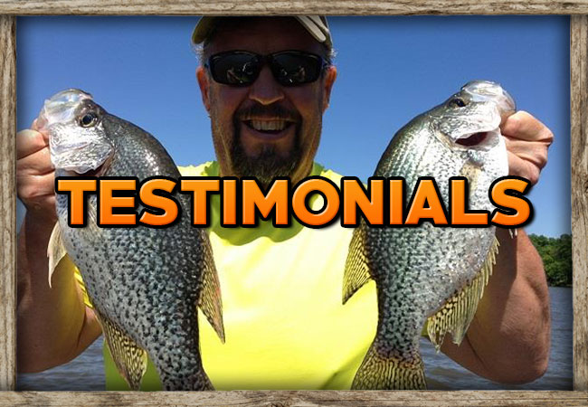 Weiss Lake Crappie Guides Testimonials