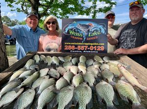 Caught 4-28-21 Big stringer of crappie, white bass and catfish!